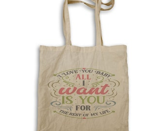I Love You Baby All Tote bag w172r