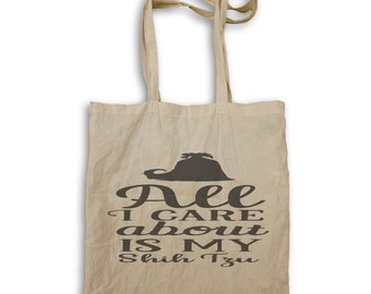 All I care about is my Shih tzu Tote bag v946r