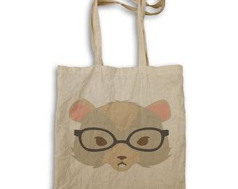 Hipster gerbil Tote bag w136r