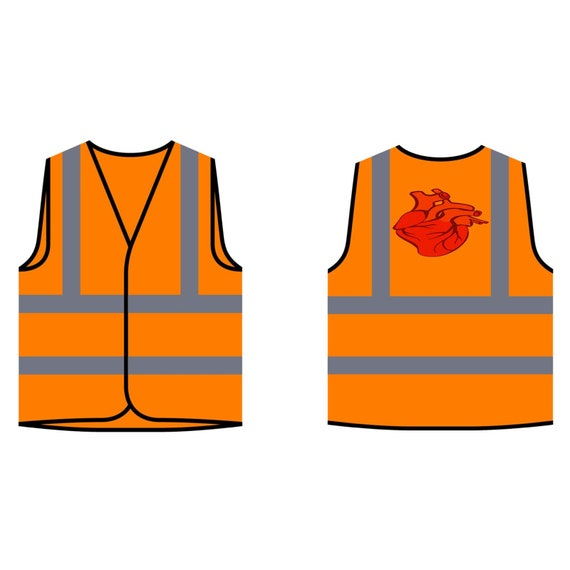 Anatomiquement correct coeur gilet sécurité veste gilet coeur v957v b70681