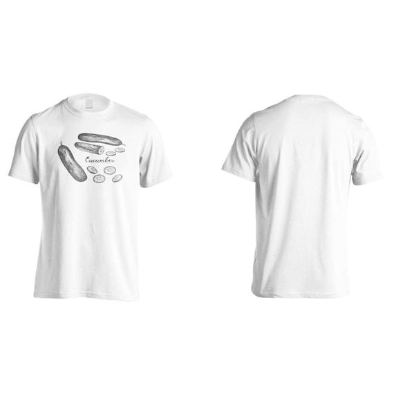 À la main T-Shirt T-Shirt main h868m dessiné concombre hommes 71d3ea
