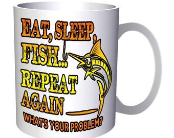 Eat Fish Sleap Repeat Fisherman 11oz Mug aa145