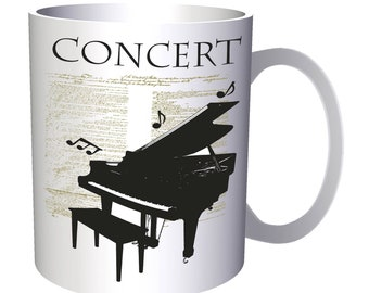 Piano Concert Musical Notes 11oz Mug x894