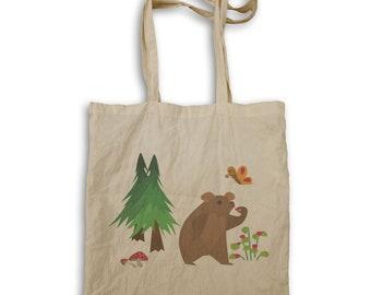 Bear in habitat Tote bag v963r