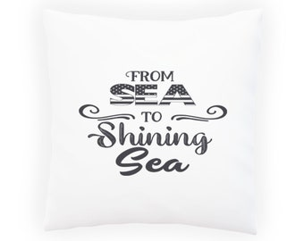 From Sea to Shining Sea Pillow Cushion Cover w101p