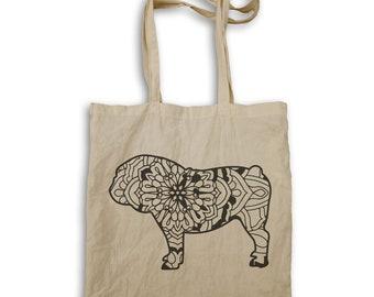 English Bulldog Mandala 1 Tote bag s839r