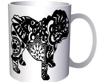 English Bulldog Colorful Boho Style 11oz Mug s837