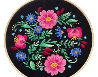 Pansy Embroidery Design with Video Tutorial Home Hand Embroidery Pattern PDF