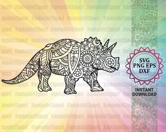 Triceratops Svg Dinosaur Svg Triceratops Decal Triceratops Etsy
