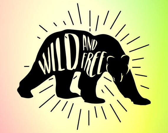 Wild And Free Svg Wild And Free Decal Bear Svg Bear Svg Etsy