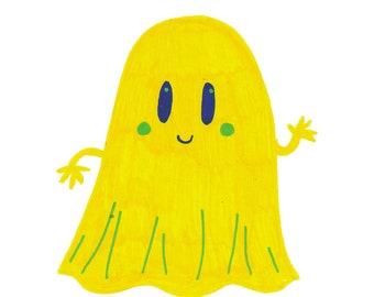 A6 Halloween card - 'Hi, Boo!'