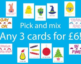 Choose any three cards!