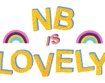 NB Is Lovely - A6 Card