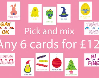 Choose any six cards!