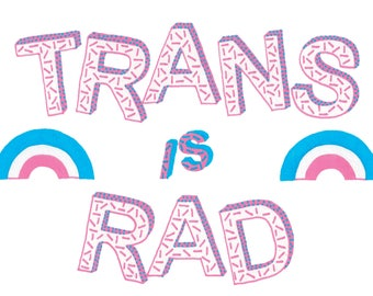 Trans Is Rad - A6 Card