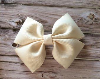 A Handmade Cream Bow