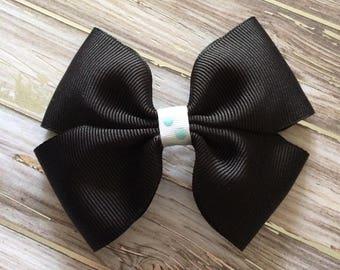 Rockin' Black Handmade Hair Bow