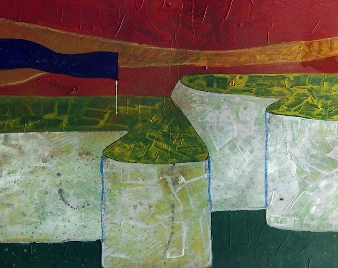 Landscape painting,landscape wall art, Mauro Carac,wide size, landscape mix media