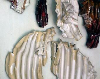 Clay sculpture, ceramic art, fine art ceramic, Tableau ceramic,Mauro Carac