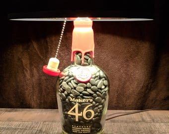 Makers 46 Bourbon Bottle Lamp