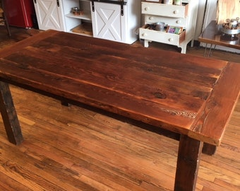 Rustic Reclaimed Wood Farm Table