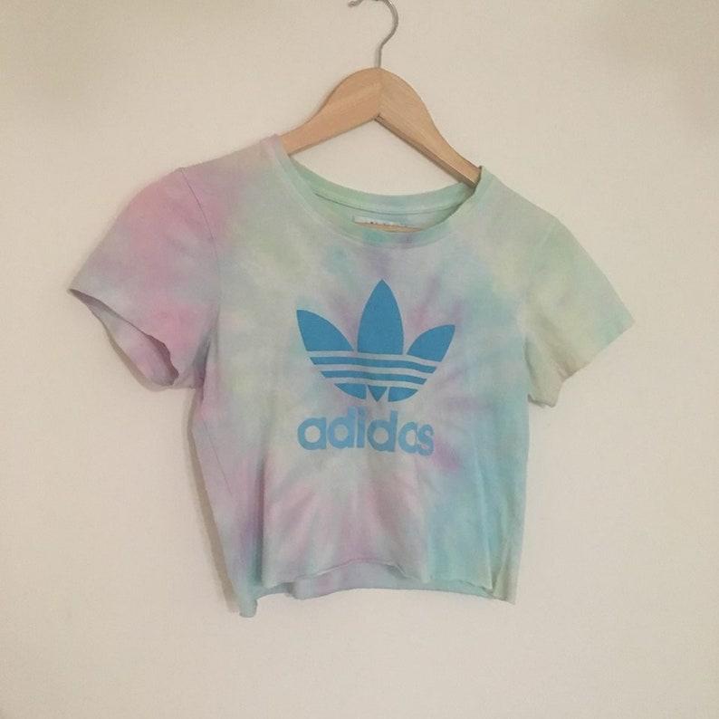 20b9bf4ad7d1d adidas festival tie dye pastel tumblr crop shirt top