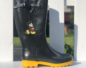 6ddc082fb39 Mickey mouse boots | Etsy