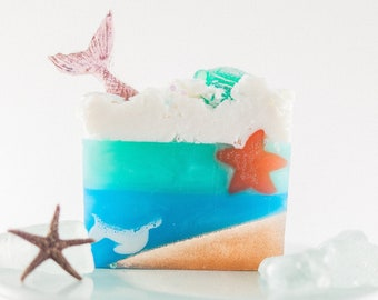 Mermaid Tales Goat Milk Soap Bar | Natural Based Soap | Inspired by Light Products
