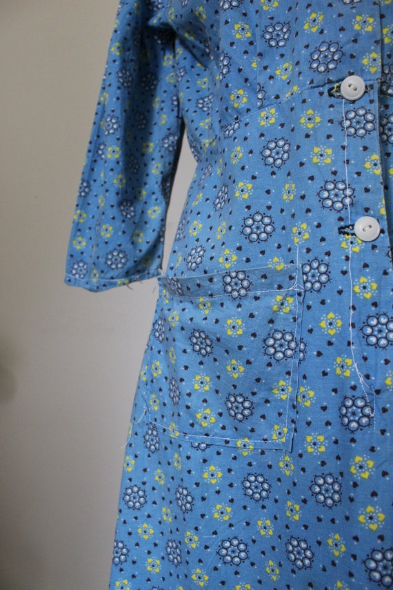 Late 40's/Early 50's Handmade Cotton Work Day Dre… - image 5
