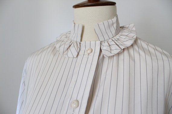 1970's Victorian Inspired Polyester Blouse - image 2