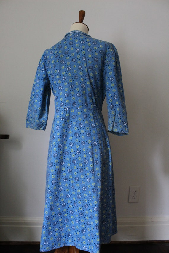 Late 40's/Early 50's Handmade Cotton Work Day Dre… - image 6