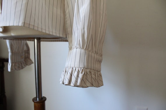 1970's Victorian Inspired Polyester Blouse - image 3