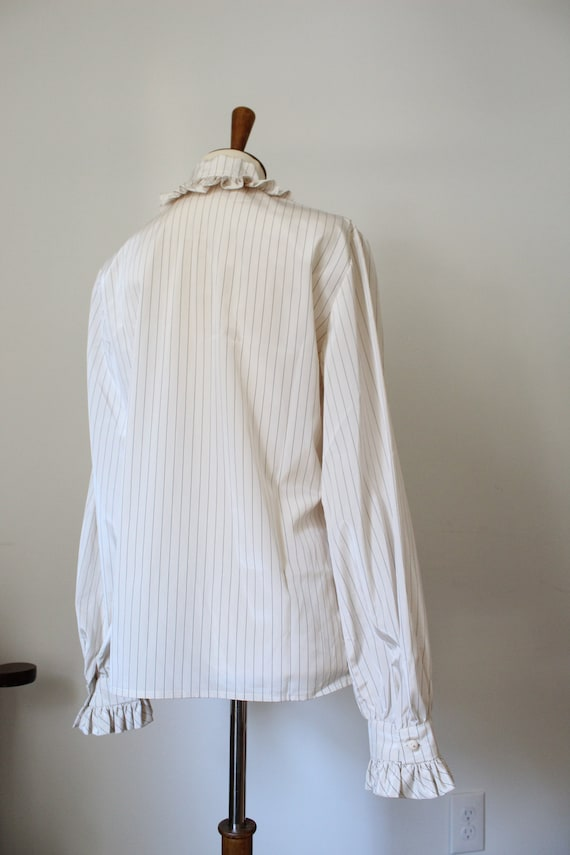 1970's Victorian Inspired Polyester Blouse - image 5