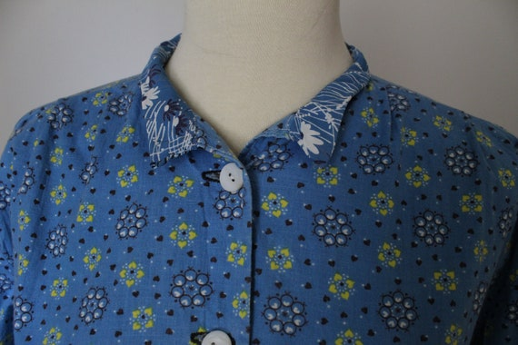 Late 40's/Early 50's Handmade Cotton Work Day Dre… - image 3