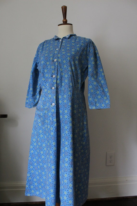 Late 40's/Early 50's Handmade Cotton Work Day Dre… - image 1