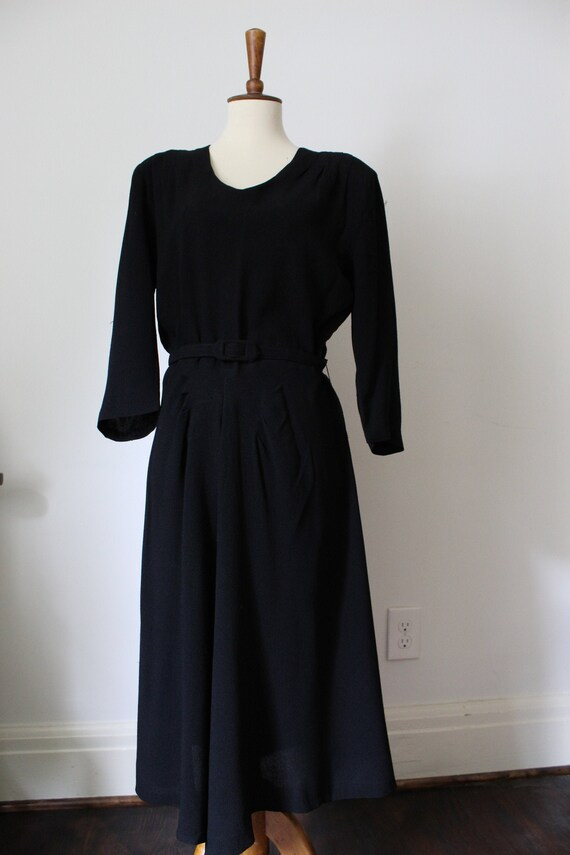 1940's Handmade Black Dress