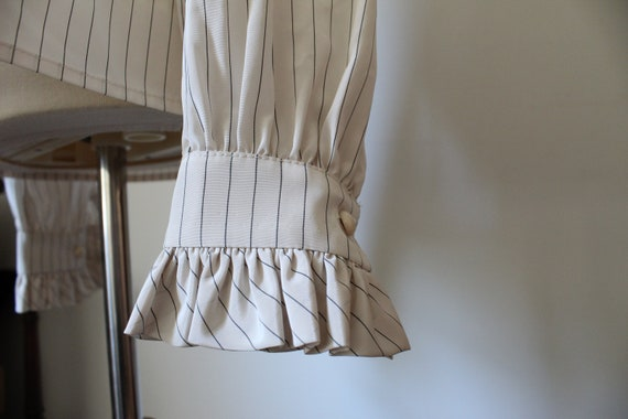 1970's Victorian Inspired Polyester Blouse - image 4
