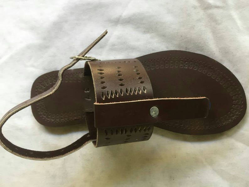 b2d15b4683b55 African Maasai Sandals Leather Unisex sandals Men Leather