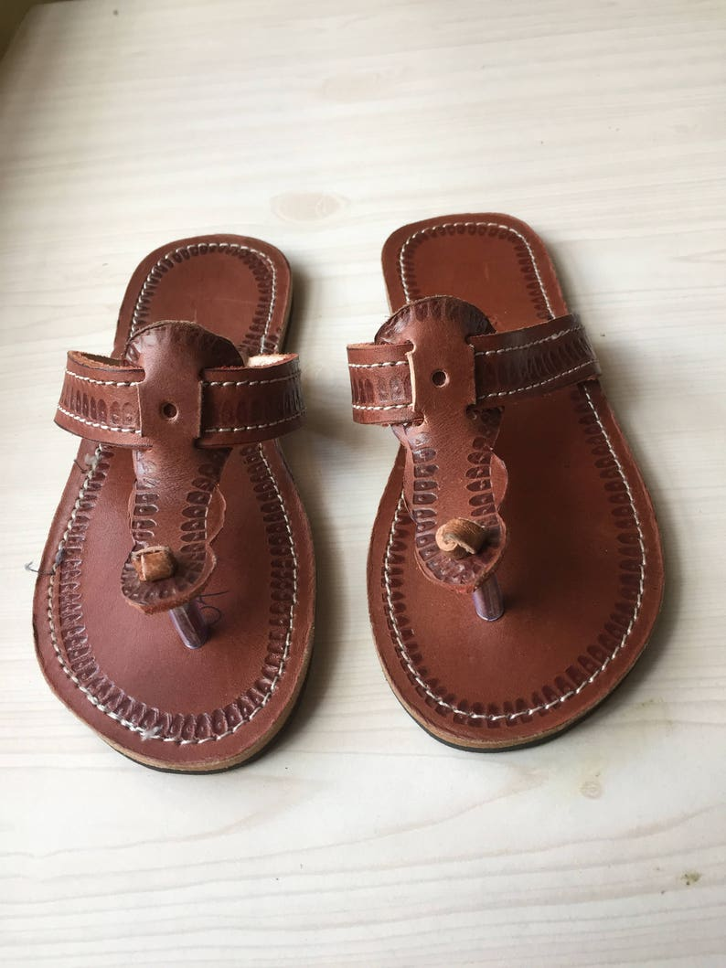 a4d64d10167 ON SALE Kids leather sandals Men African leather sandals