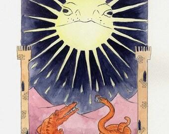 The Moon - Herpetology Tarot Print