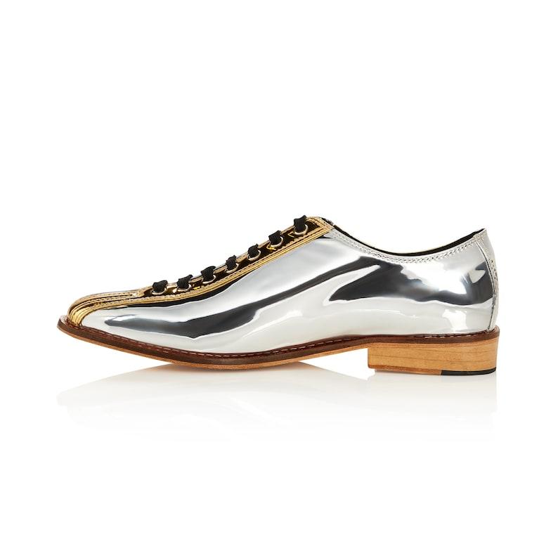 Scarpe da bowling uomo bicolore e oro Q0wjYWkZ