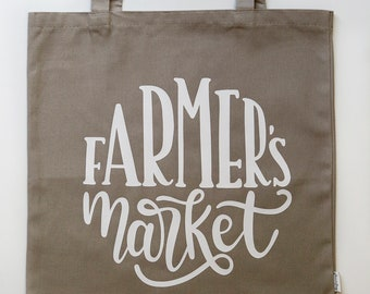Farmer's Market Canvas Tote