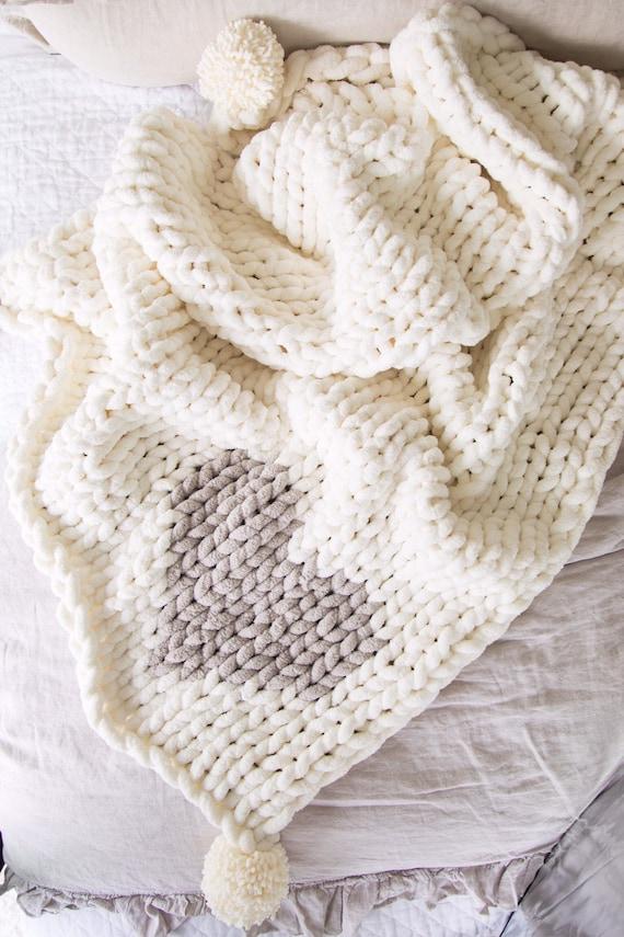 Jillian Harris x Etsy Chunky Knit Chenille Heart Blanket