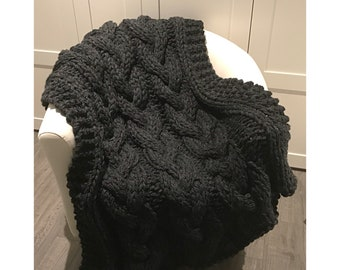 Chunky Cable Knit Throw Blanket ***FREE SHIPPING***
