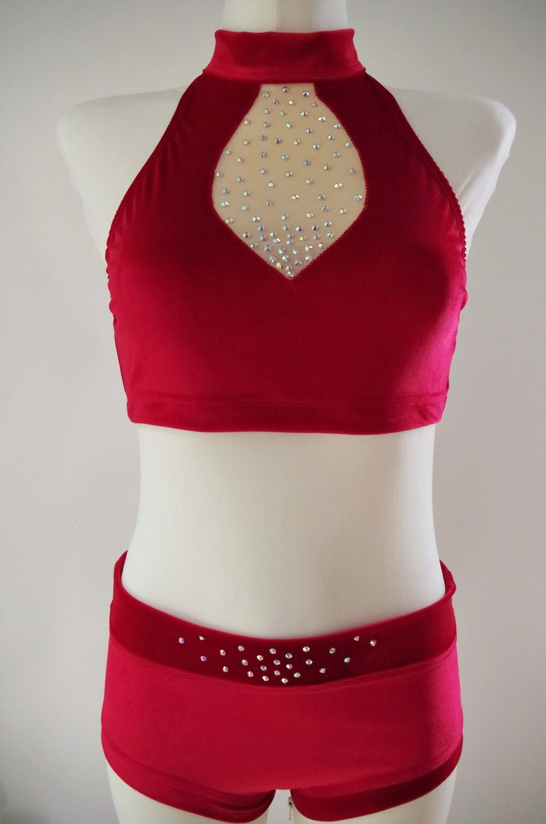 all sizes by Dreamwing\u00ae Pole Dance Set *Berenice I* neckholder with sparkling rhinestones,3 colours