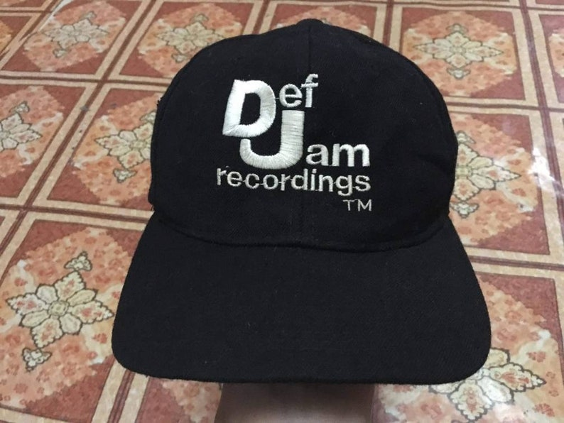 fcf313ff8 True Vintage 1990's Def Jam Recordings Embroidered Cap Snapback hip hop rap  beastie boys tupac 2pac public enemy nwa niggaz ll cool j