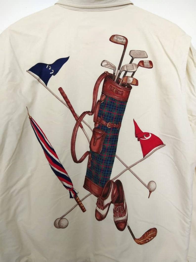 69ad6c10 Rare Vintage 90s Polo Ralph Lauren Big Golf Kit Image Stadium   Etsy