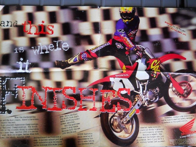 Rare Vintage 1995 Fox Racing Honda The Red Riders Motocross Jersey JEREMY McGRATH replica Size M fox moto x ricky johnson AMA