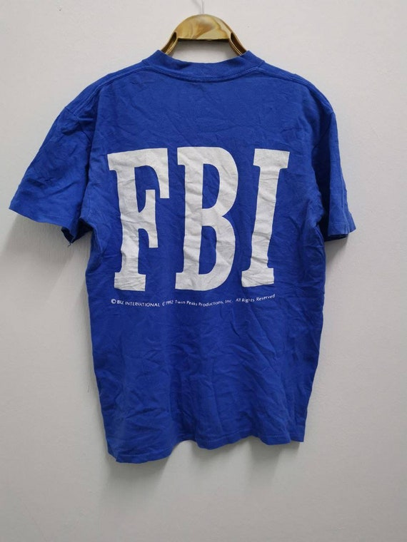 Vintage 1992 Twin Peaks FBI Movie Promo T-shirt Ho