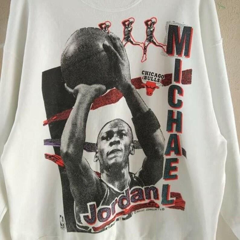 010d9f98a4c Vintage 90's Micheal Jordan Chicago Bulls NBA Sweatshirt | Etsy